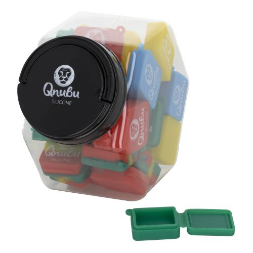 9ml Keychain Jar Square Qnubu Silicone (Display L 35 Unit)